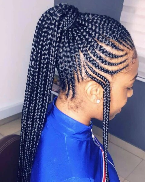 Gorgeous African Ponytail Braids For Black Women Natural Girl Wigs