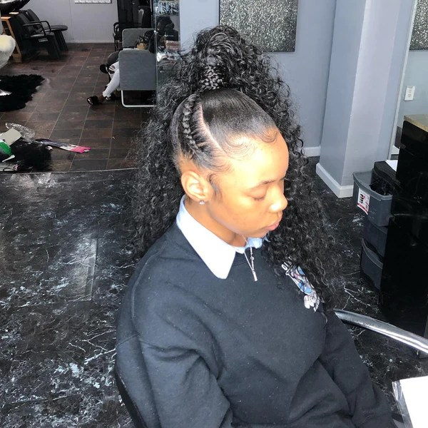 Easy Black Side Ponytail Hairstyles For 2020 Natural Girl Wigs