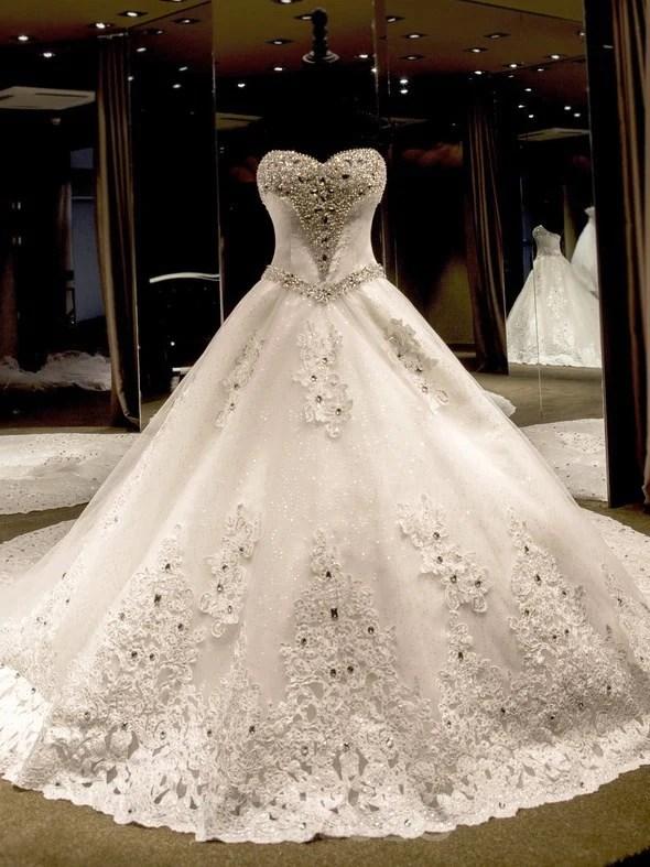 ball gown sleeveless crystal