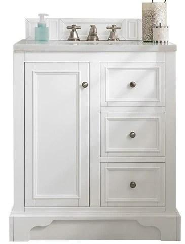 30 De Soto Bright White Single Sink Bathroom Vanity Vanities Expo