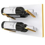 Stact Premier L Type Weinregal Weiss Gold Stact