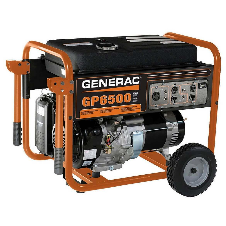 medium resolution of generac gp6500 389cc 6500 watt recoil start gasoline portable generato maxtool