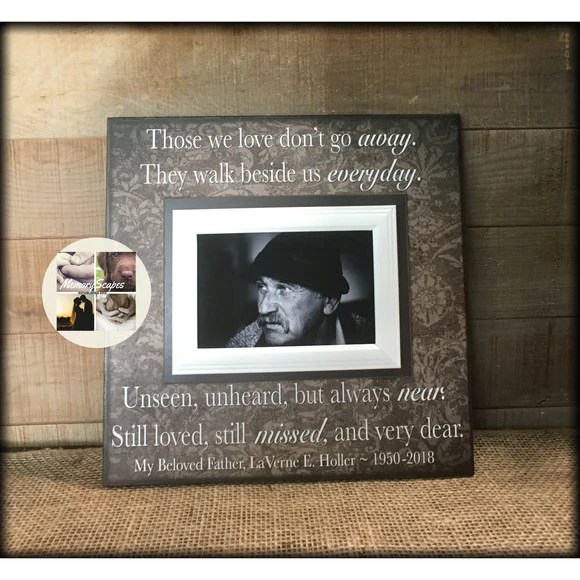 Sympathy Gift Ideas For Loss Of Father Picture Frame