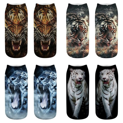 2018 Newest 3D Prints Animal Socks Fashion Tiger Art Picture Women Socks Colorful Cotton Socks Women