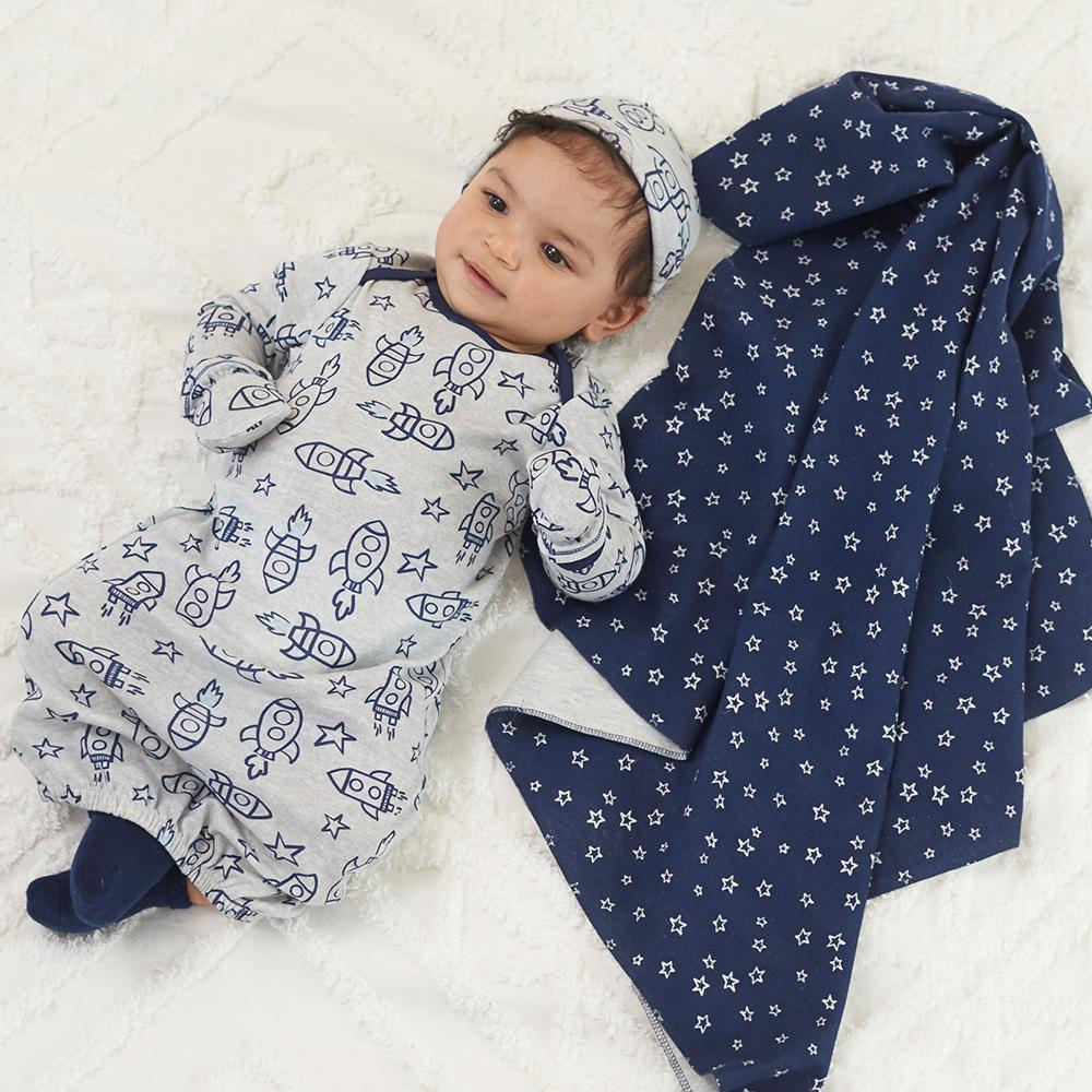 Baby Boy Swaddle Blankets And Receiving Gerber
