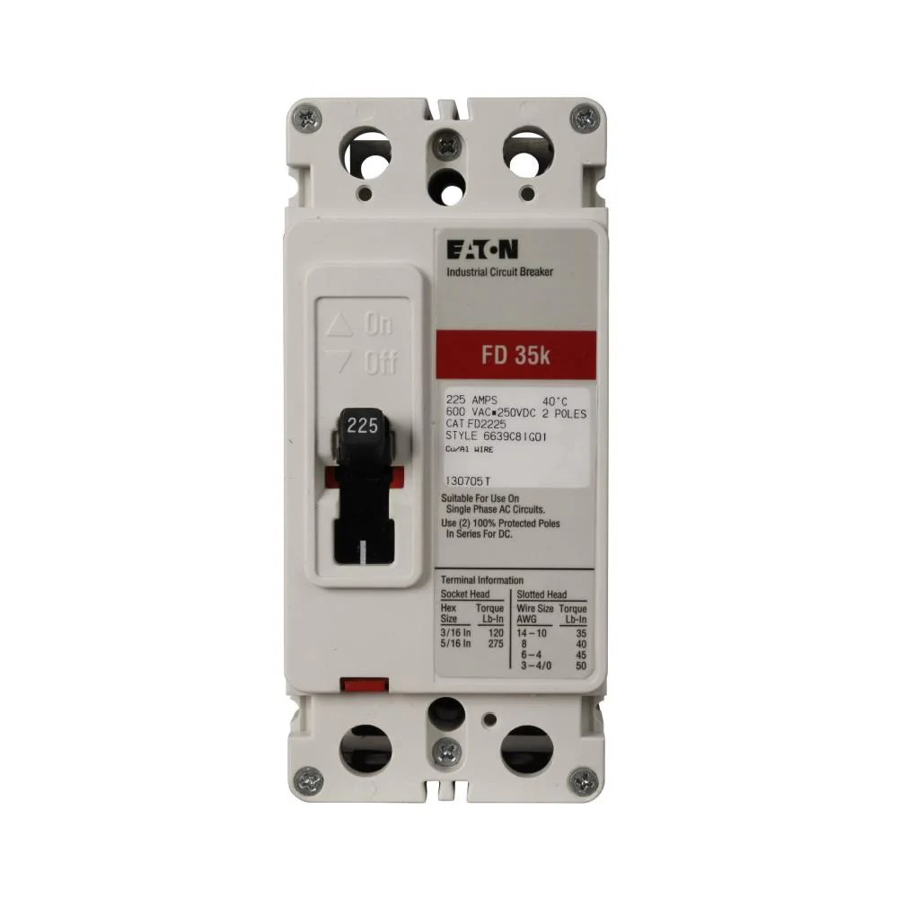 medium resolution of fd2100l eaton cutler hammer 100 amp 2 pole 600 volt molded case circuit breaker