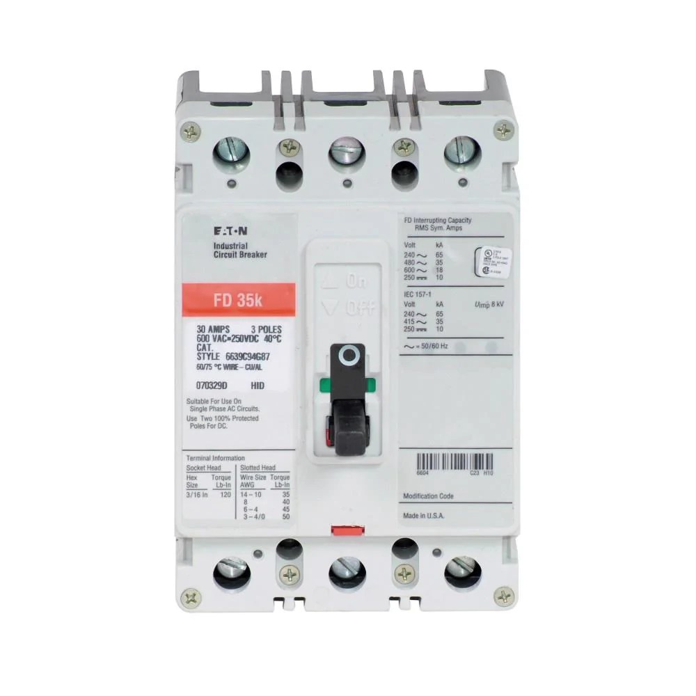 fd3100k eaton cutler hammer 100 amp 3 pole 600 volt molded case switch [ 1000 x 1000 Pixel ]