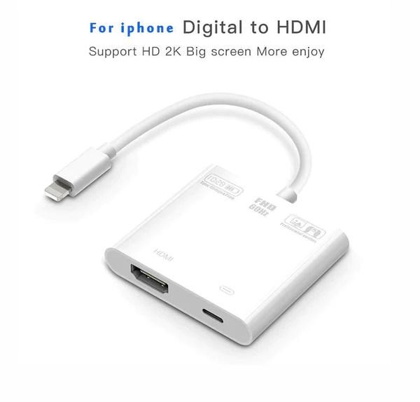 【2020最新版バージョン】lightning HDMI 変換ケーブル iPhone HDMI ...