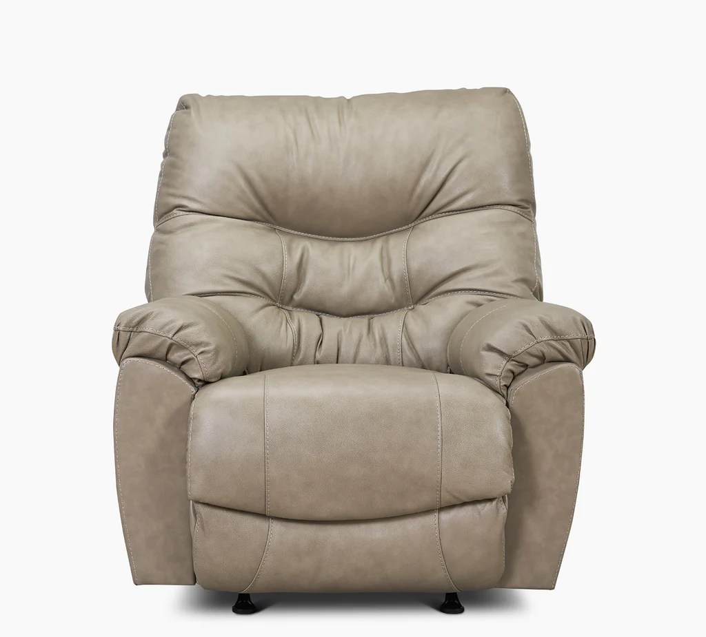 Topher Taupe Rocker Recliner  Kanes Furniture