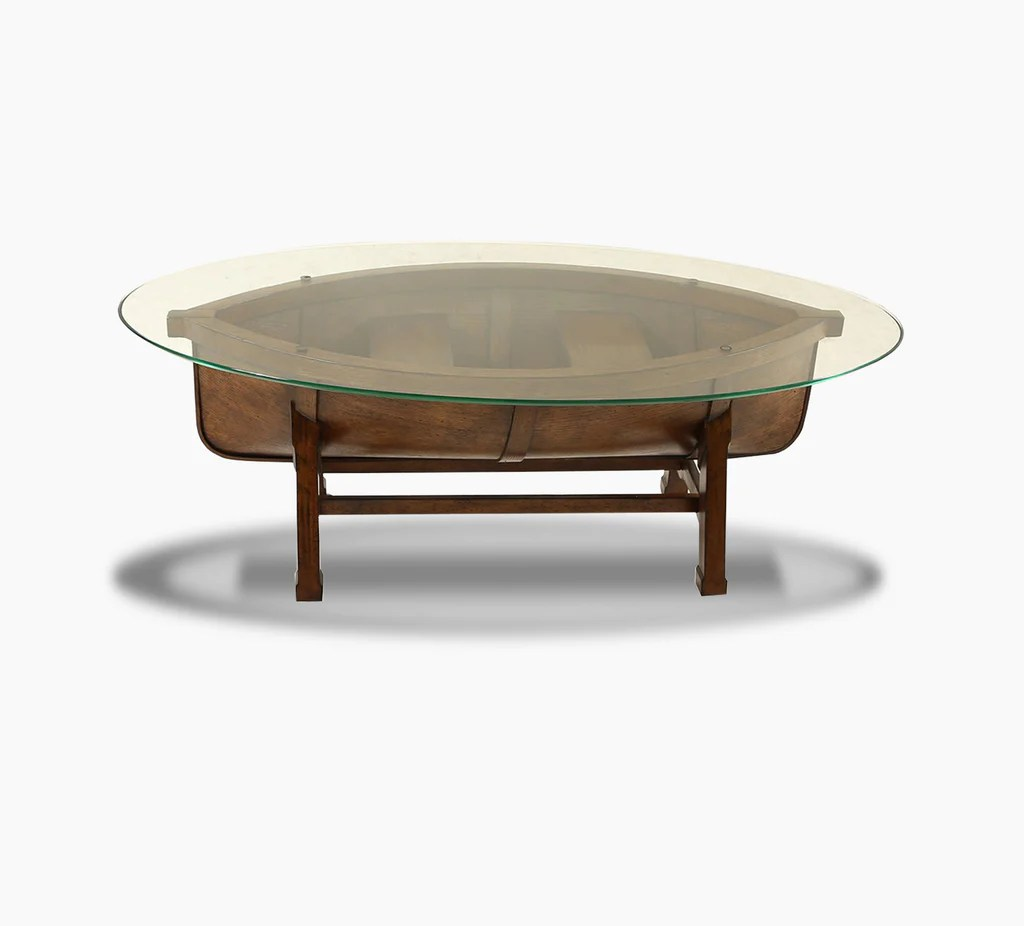 Beaufort Oval Canoe Cocktail Table  Kanes Furniture