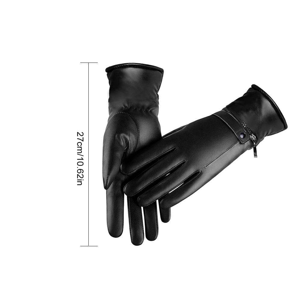 medium resolution of woman leather electric heated gloves