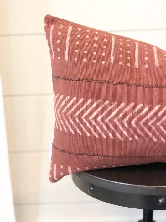 summer rust pillow cover design