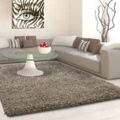 Shaggy Rugs For Living Room Best Carpet Underlay Fluffy Rug Grey Beige Plain Long Pile Small Large Mats