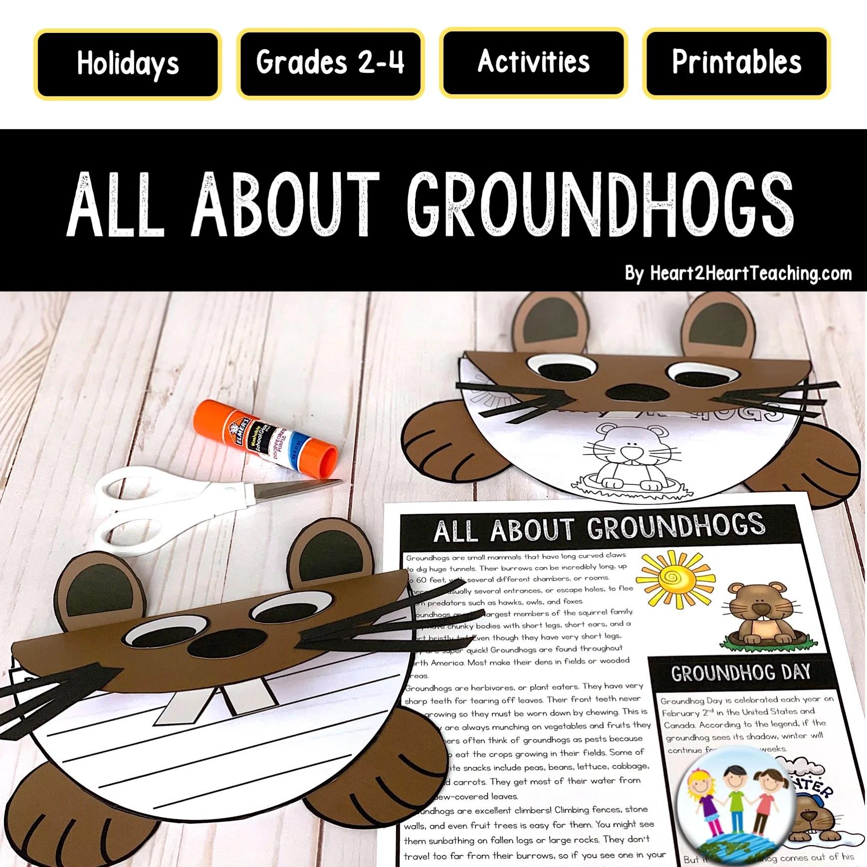 Groundhog Day Craft Project – Heart 2 Heart Teaching [ 1738 x 1738 Pixel ]