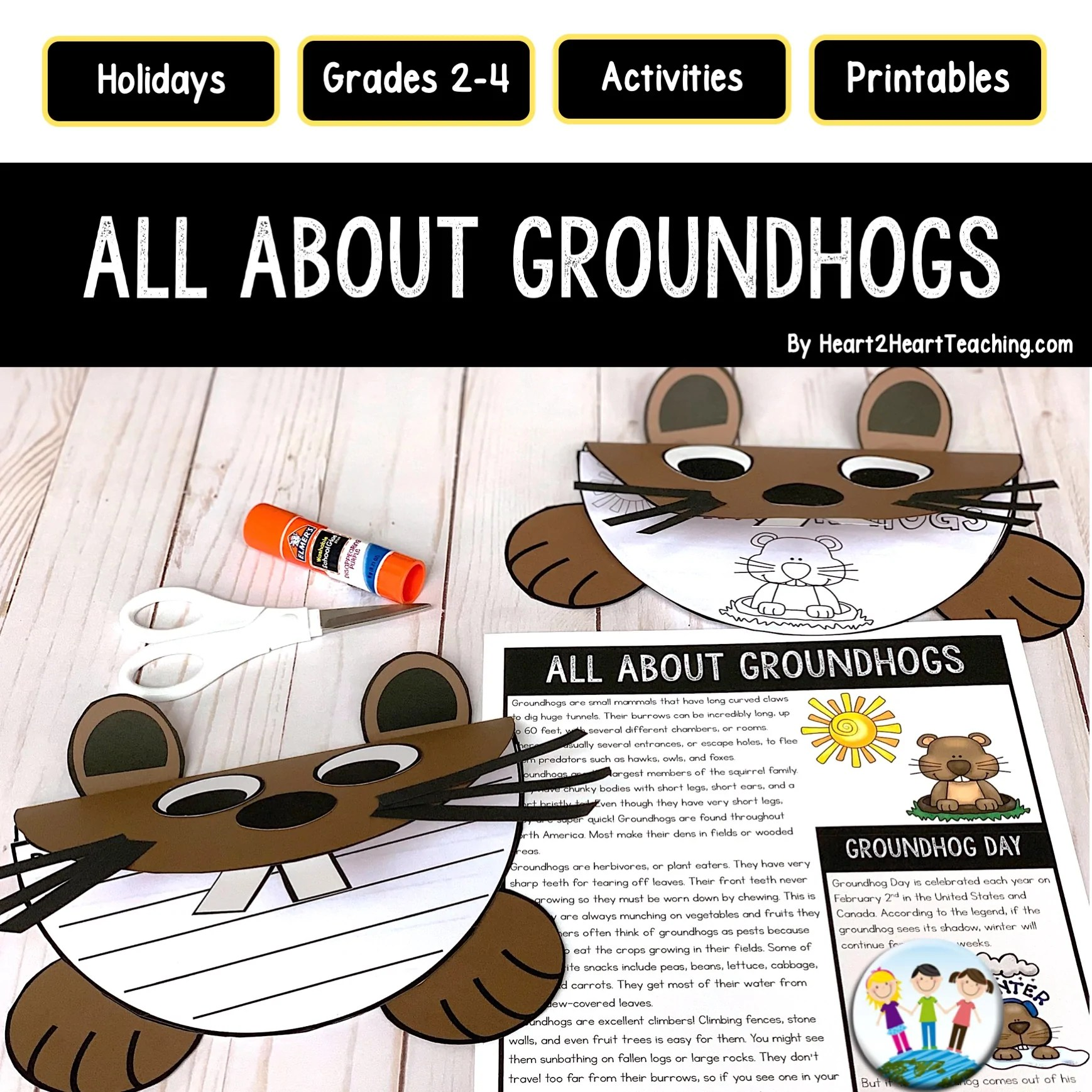 hight resolution of Groundhog Day Craft Project – Heart 2 Heart Teaching