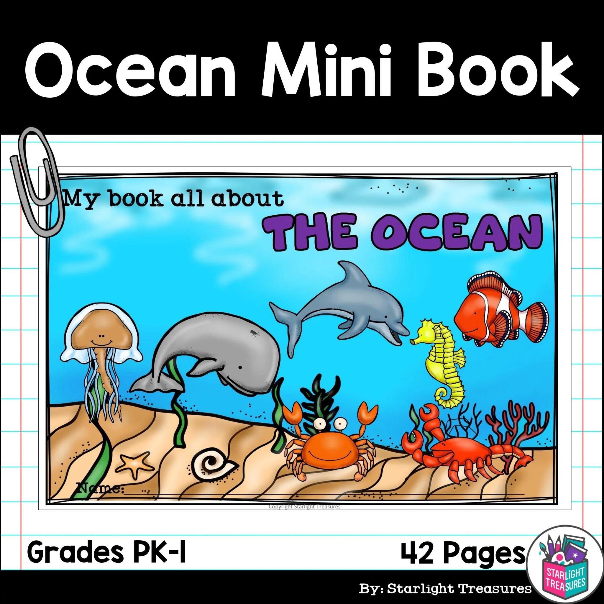 The Ocean Mini Book for Early Readers: Ocean Animals – Starlight Treasures  Resources [ 2048 x 2048 Pixel ]