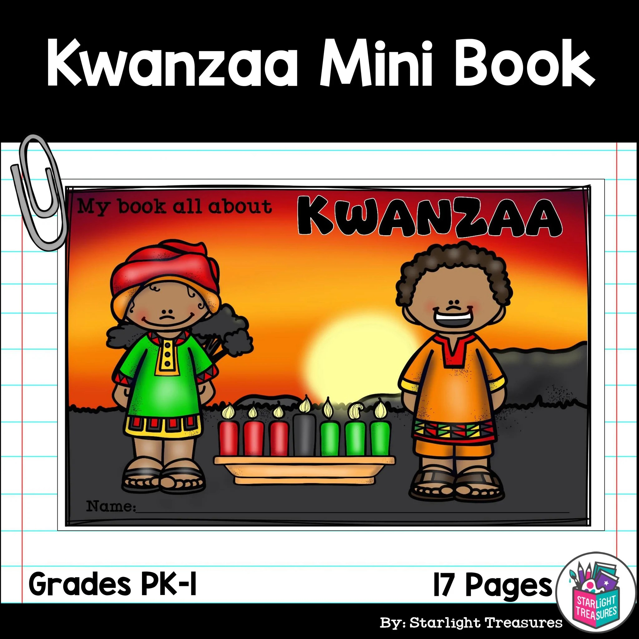 hight resolution of Kwanzaa Mini Book for Early Readers – Starlight Treasures Resources