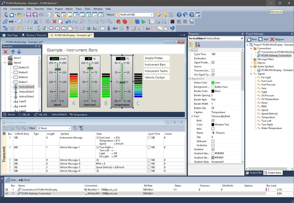 PCAN-Explorer 6 - CAN Bus Data Monitoring Software | Phytools
