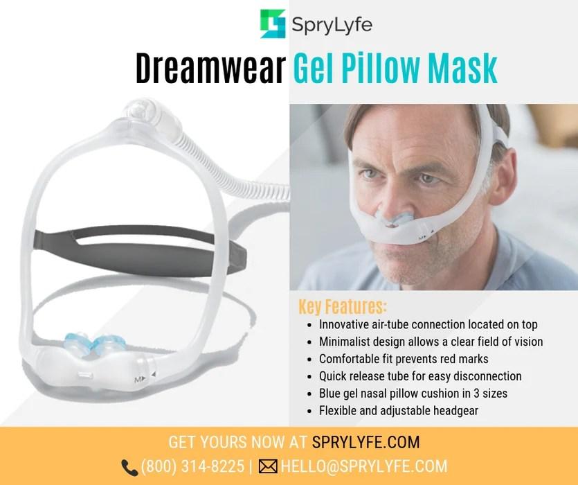 dreamwear gel pillows cpap mask
