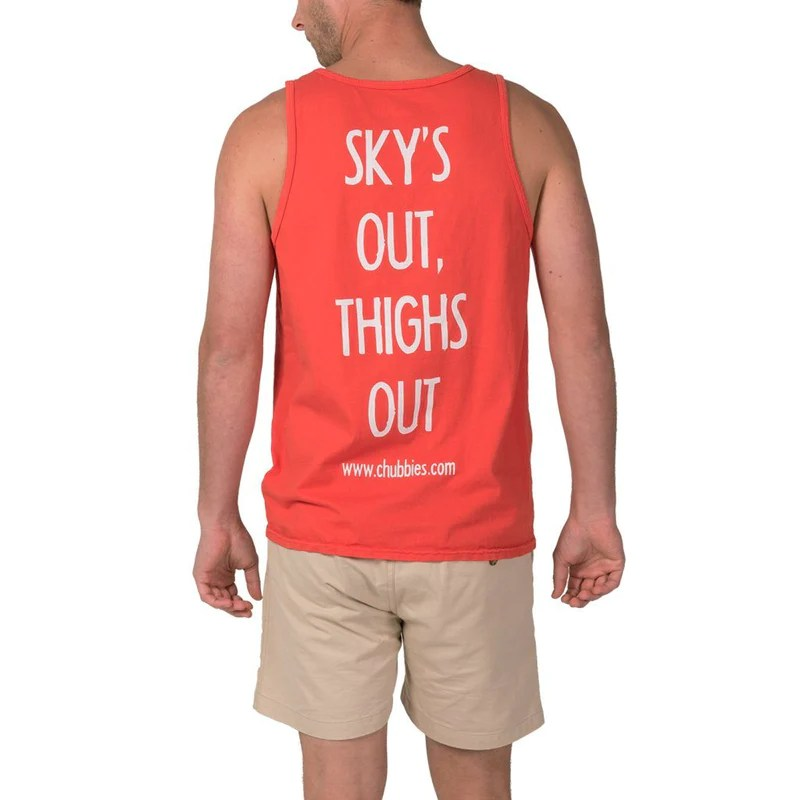 Red Soto Tank Chubbies Skys Thighs Top