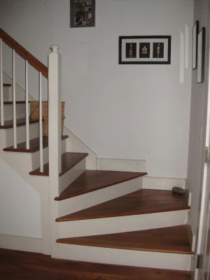 Winder Stair Treads Winder Kit Set Of 3 Winder Stair Treads Red | 48 Inch Red Oak Stair Treads | Wood Stair | Stair Nosing | Solid Oak | Stair Riser Kit | Bull Nose