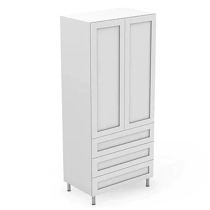 Custom Shaker Style 600 1050mm 3 Drawers Kitchen Pantry Cabinet Peakreno