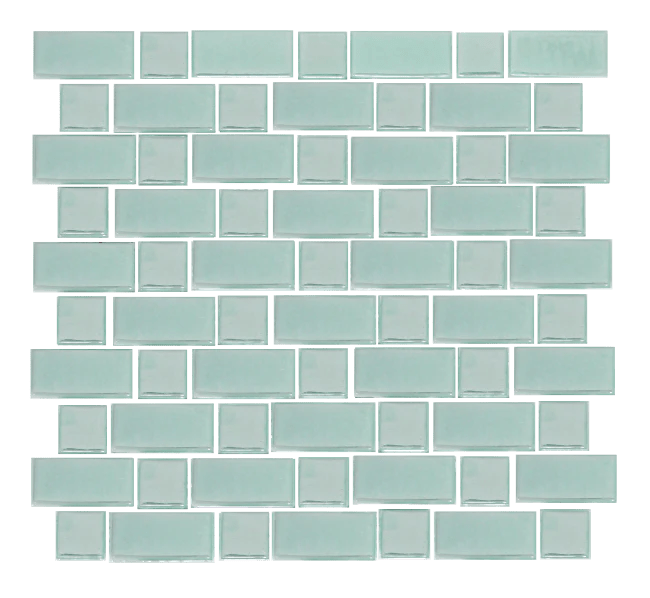 sky blue glow in the dark recycled glass tile susan jablon