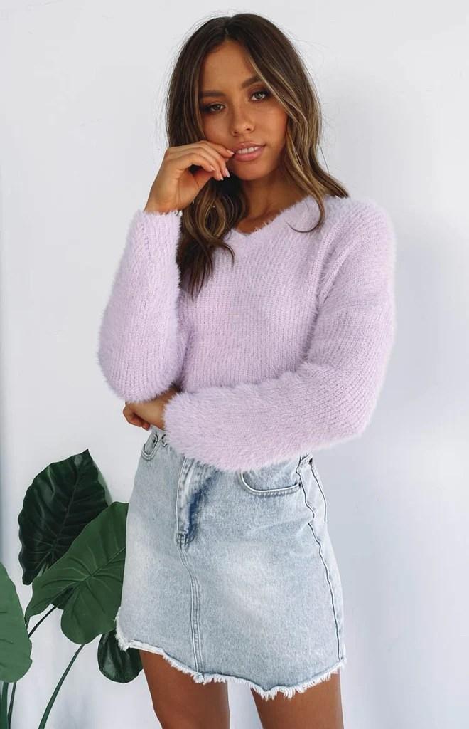 Ariana Knit Lilac 1