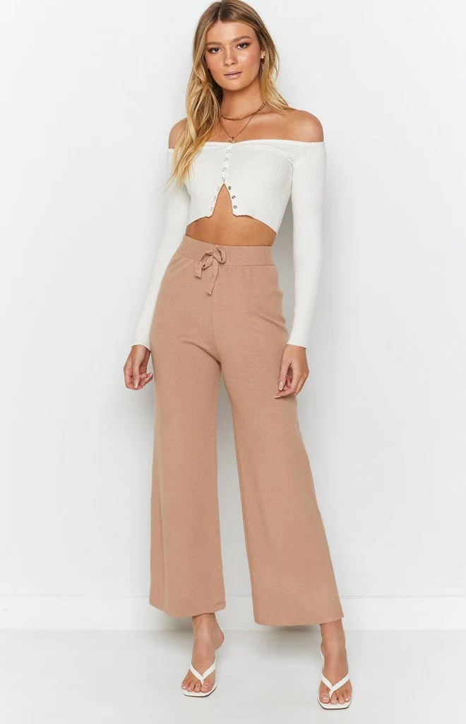 Diaz Knitted Pants Mocha 5