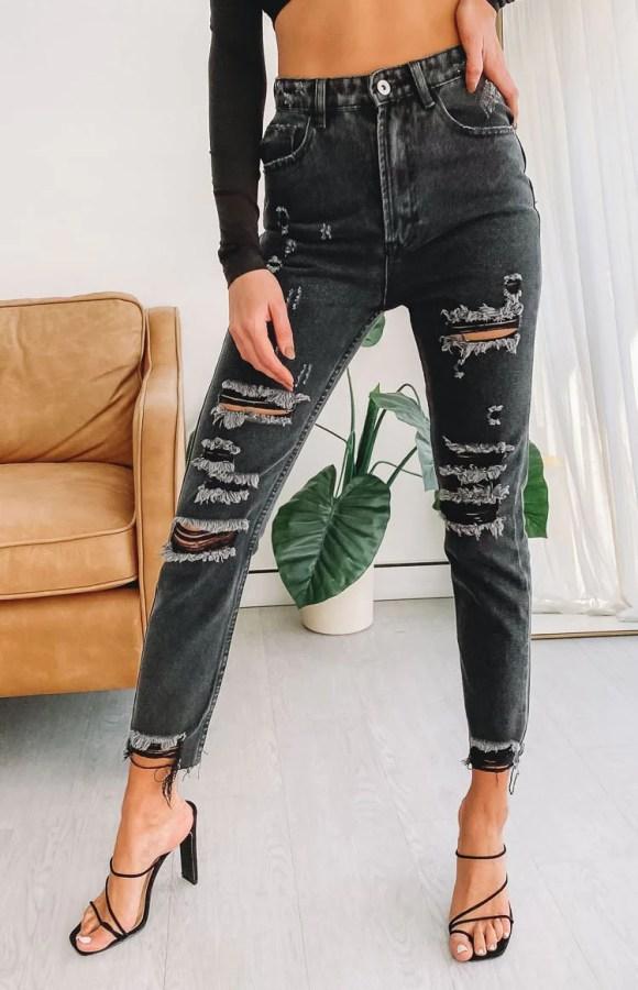 Jeanie Jeans Black Acid Wash