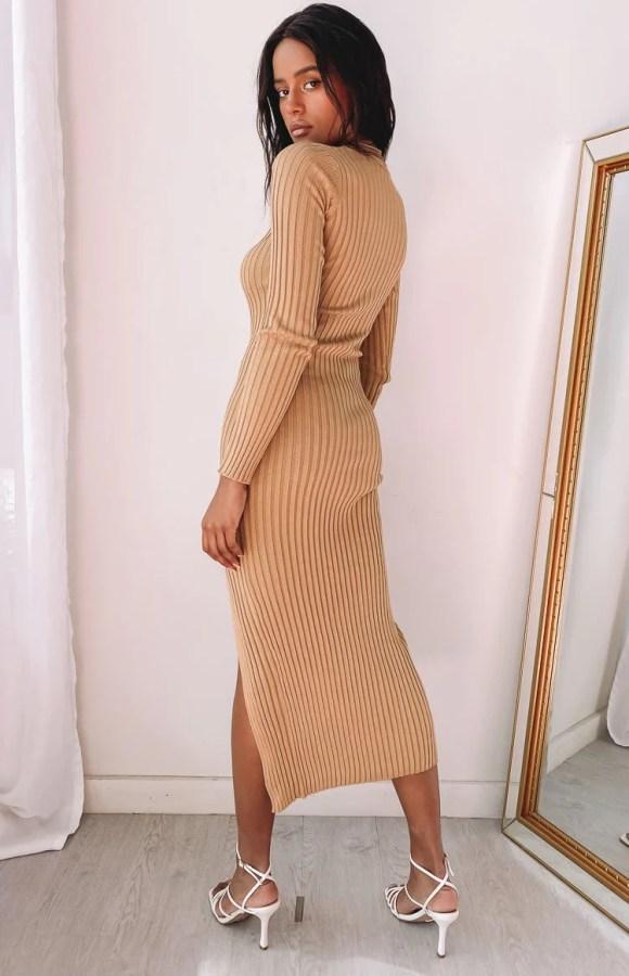 Laurena Dress Tan