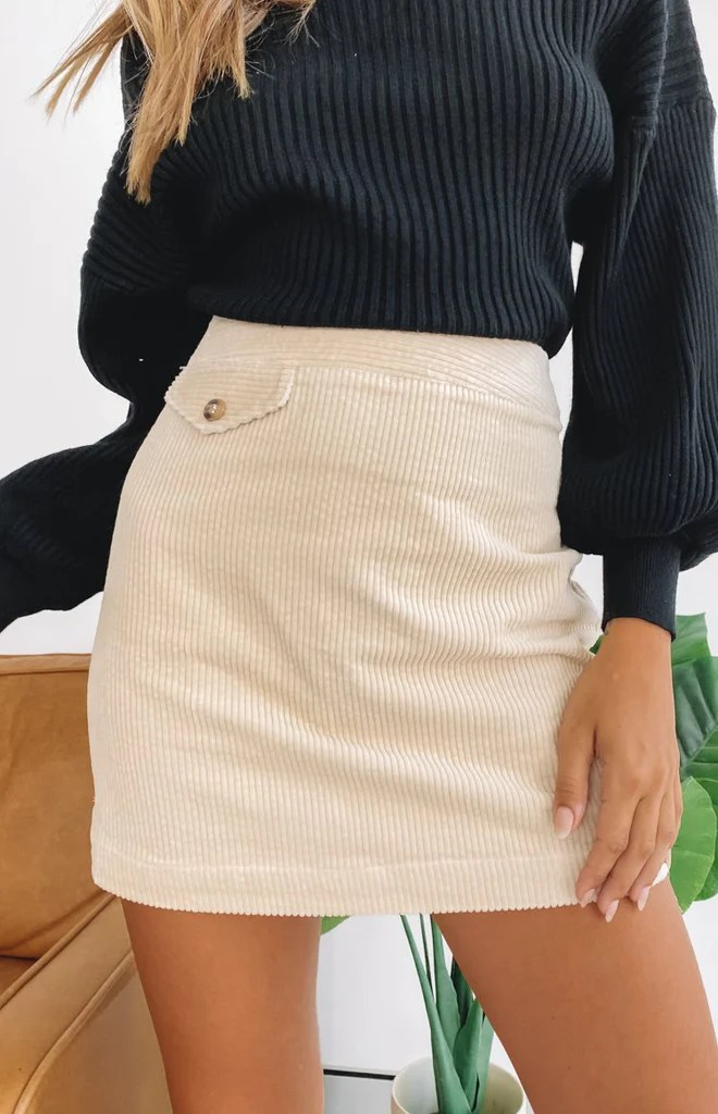 Lou Rose Skirt Beige 10