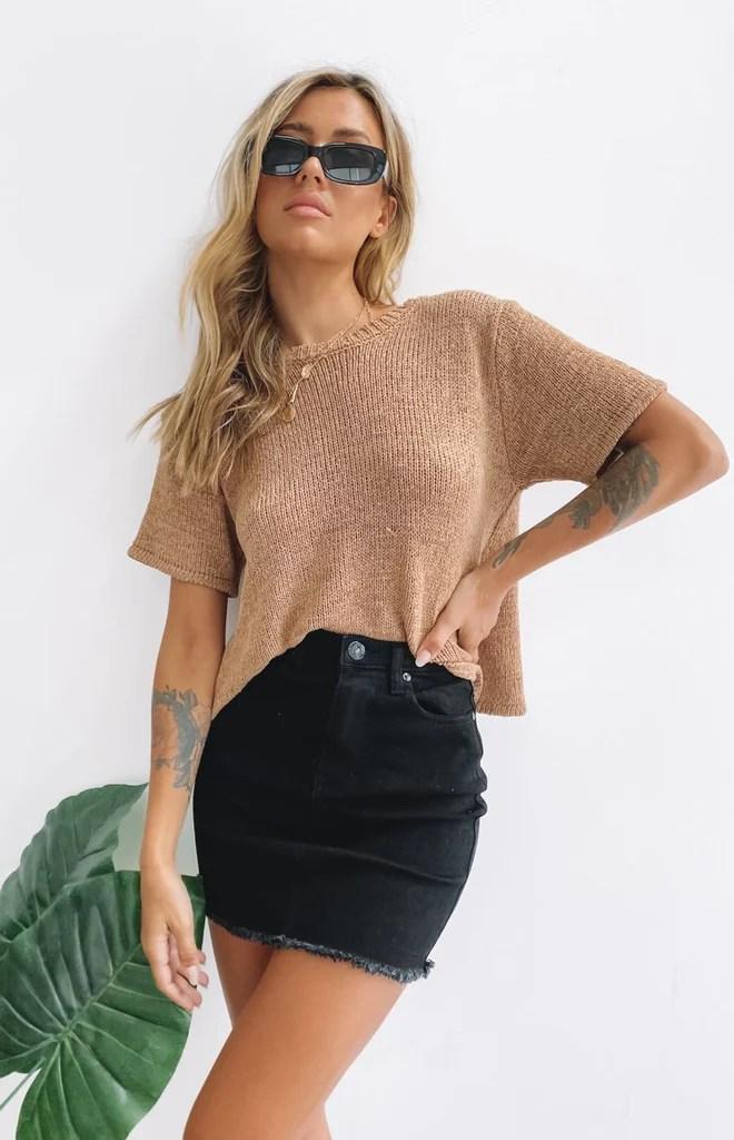 Macer Denim Skirt Black 11