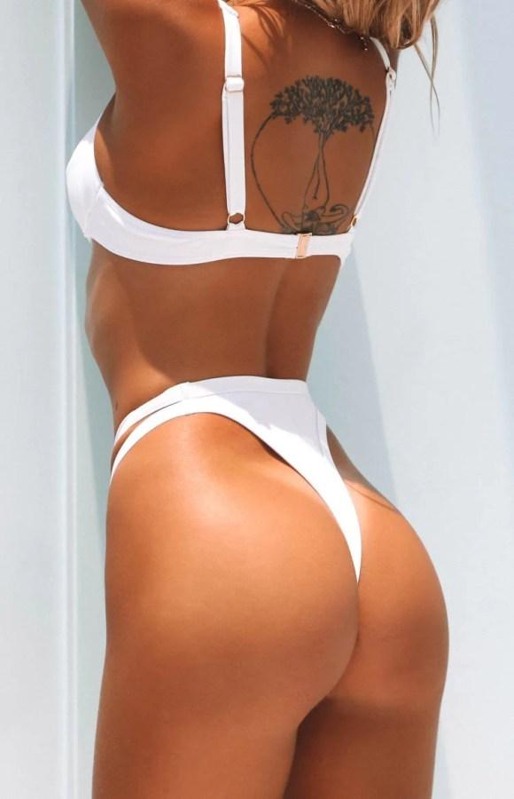 9.0 Swim Palma Bikini Bottoms White