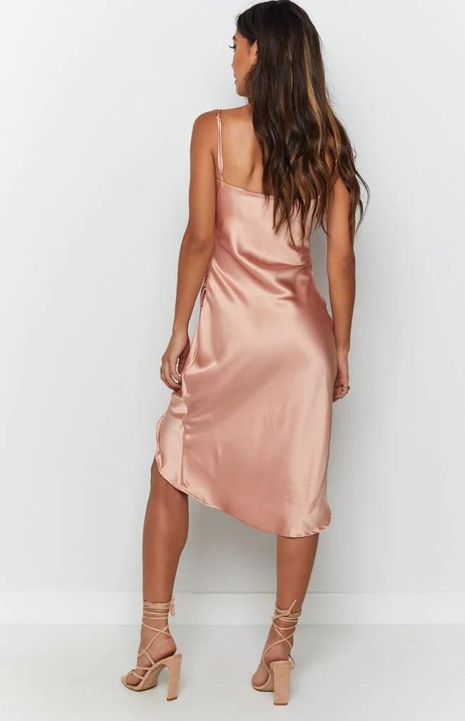Zariah Slip Midi Dress Peach 7