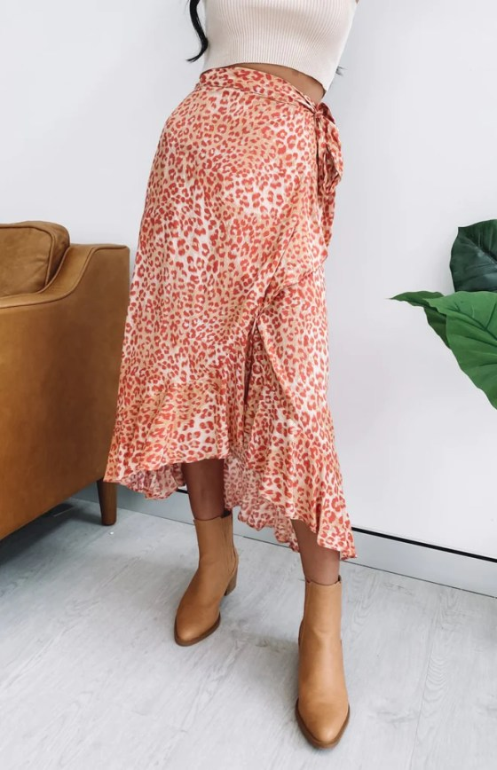 Savage Wrap Skirt Leopard Print 3