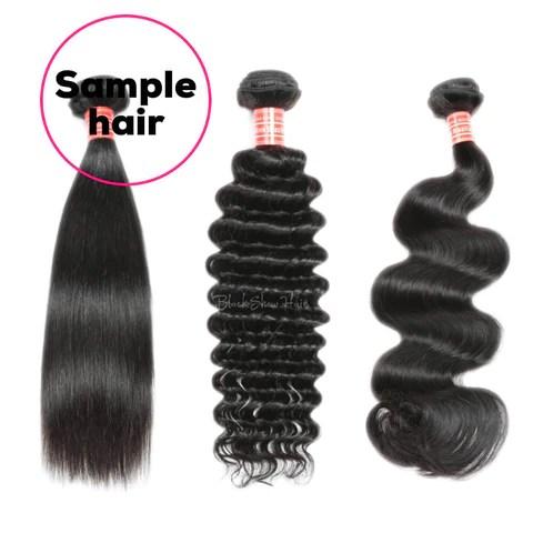 three bundles sample hair
