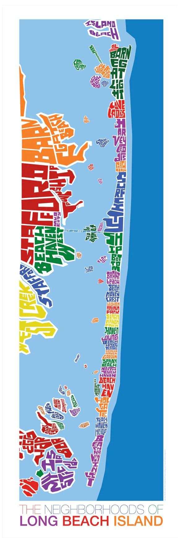 Map Of Long Beach Island Nj : beach, island, Beach, Island, Jersey