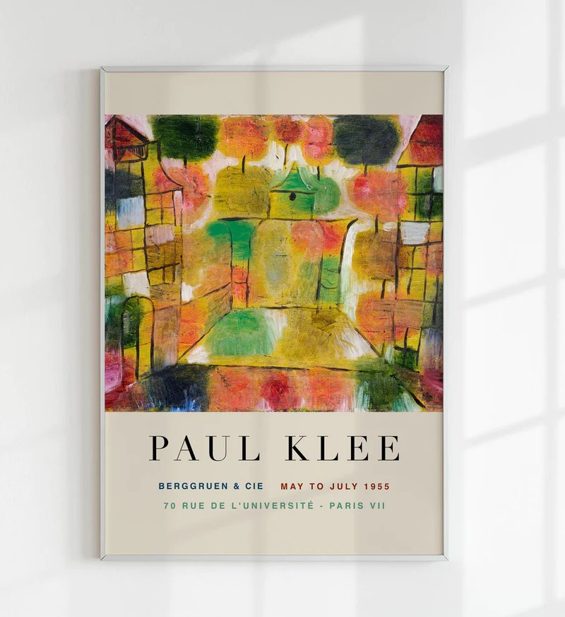 paul klee tree and architecture art
