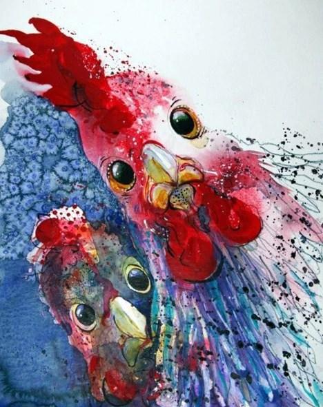 Chicken Painting : chicken, painting, Chicken, Paint, Diamonds, Diamond, Painting