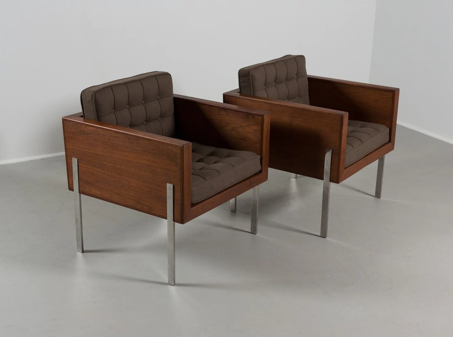 Cube Chairs Pair Of Harvey Probber Cube Chairs 1960s