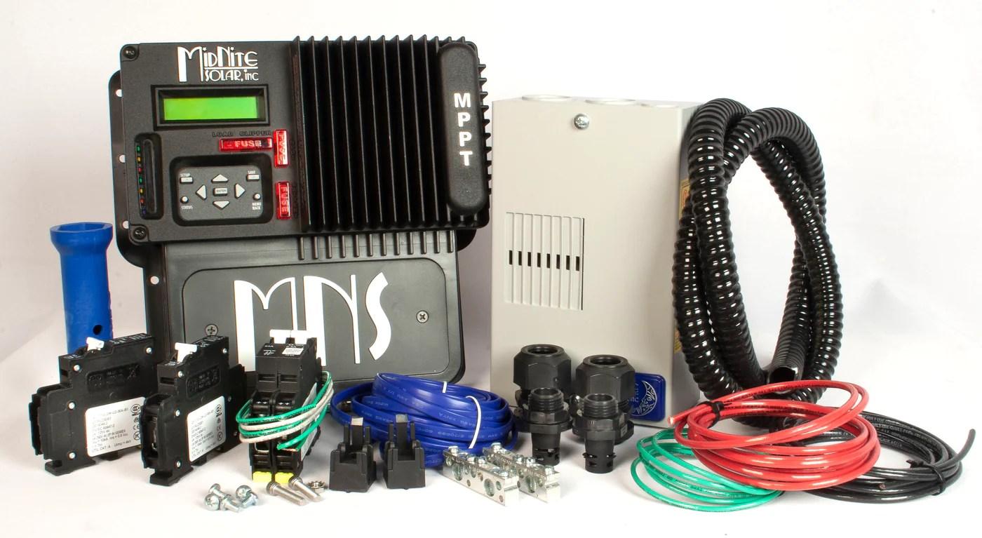 medium resolution of midnite solar kid 30a mppt charge controller kit mnkidbasic kit solar panels and solar equipment