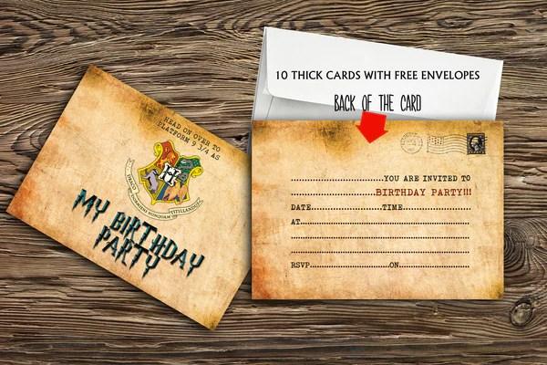harry potter birthday party invitations printbuddies co uk