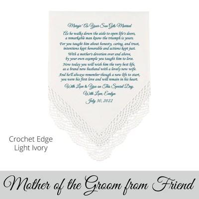 poem printed wedding hankie