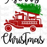 Fire Truck And Christmas Tree Digital Svg File Auntie Inappropriate Designs