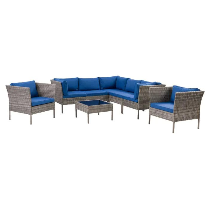 parksville l shaped patio sectional set with 2 chairs 8pc