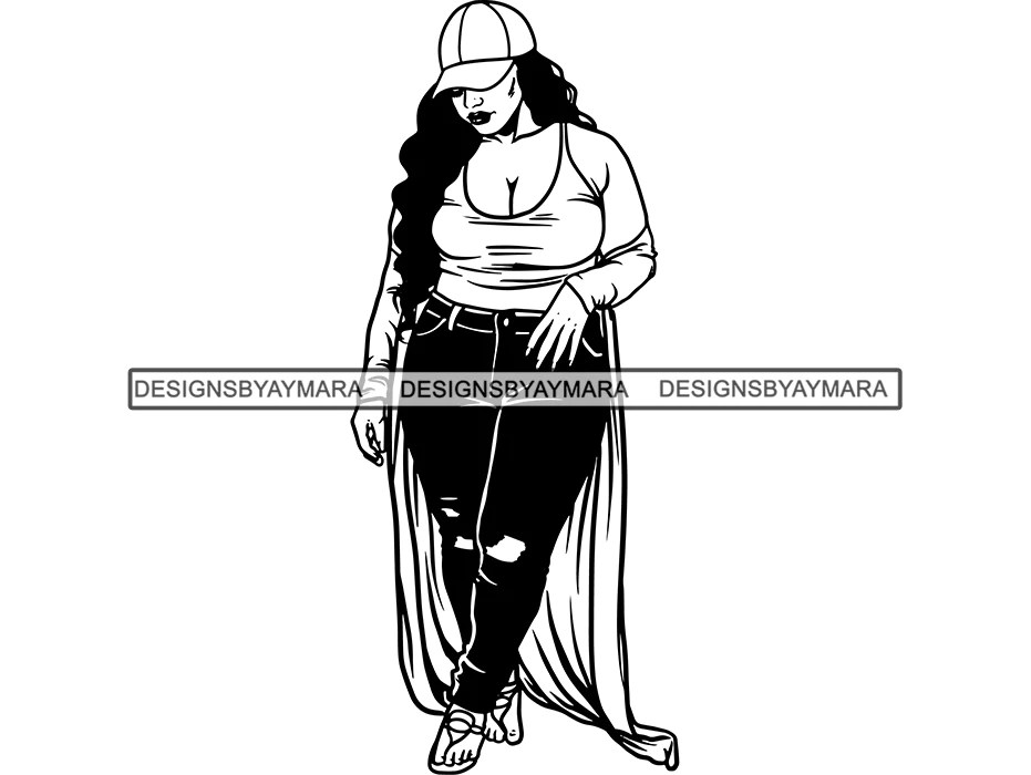 Download Afro Beautiful Black Woman SVG BBW Big And Bougie African ...