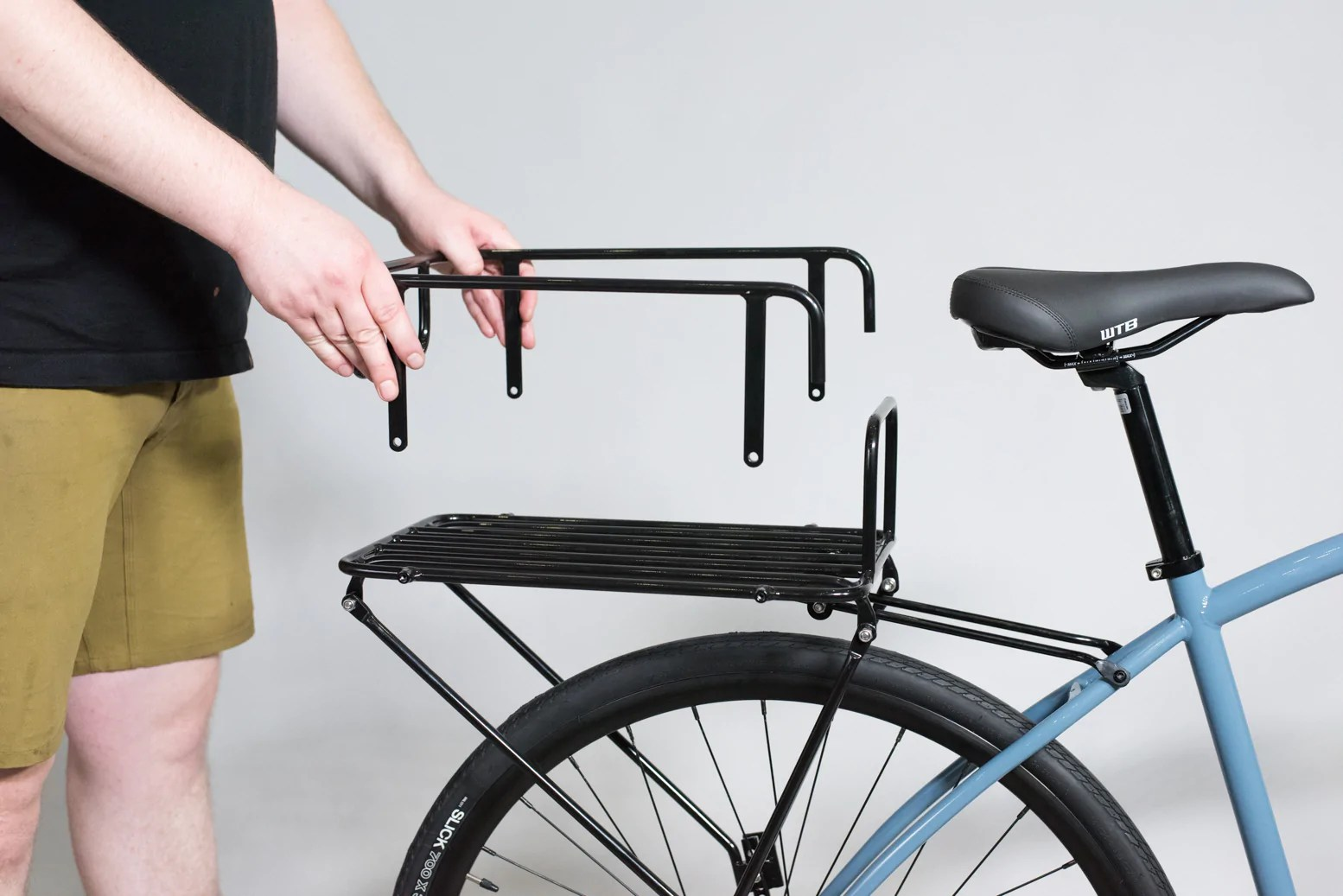 how to install an urban rear rack pure cycles