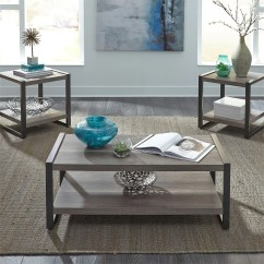 Sofa Tables For Living Room Arabian Style Furniture Fair Three Piece Table Set In A Grey Distressed Coastal