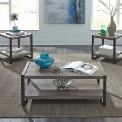 Living Room Tables Couches And Loveseats Products 3 Pack Table Sets Three Piece Set In A Grey Distressed Coastal Style